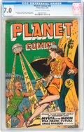 Golden Age (1938-1955):Science Fiction, Planet Comics #59 (Fiction House, 1949) CGC FN/VF 7.0 Cream tooff-white pages....