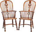 Furniture : American, A PAIR OF WINDSOR ARMCHAIRS, early 20th century. 42-1/2 x 21 x 24inches (108.0 x 53.3 x 61.0 cm). ... (Total: 2 Items)