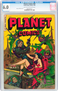 Golden Age (1938-1955):Science Fiction, Planet Comics #69 (Fiction House, 1953) CGC FN 6.0 Light tan tooff-white pages....