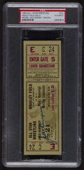 Boxing Collectibles:Memorabilia, Signed 1950 World's Heavyweight Wrestling Championship Ticket by Jack Dempsey PSA/DNA Authentic. ...