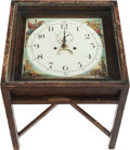 Furniture : American, A VICTORIAN PAINTED CLOCK FACE FITTED AS A SIDE TABLE, 20thcentury. 21 x 20 x 20 inches (53.3 x 50.8 x 50.8 cm). ...