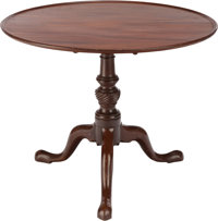 A GEORGE III-STYLE MAHOGANY TILT-TOP TABLE, early 20th century 28 inches high x 35 inches diameter (71.1 x 88.9 cm