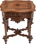 Furniture , A CONTINENTAL BAROQUE PARQUETRY TABLE, 18th century. 26-1/8 x 22 x 17-3/4 inches (66.4 x 55.9 x 45.1 cm). ...