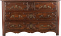 Furniture , A RÉGENCE-STYLE WALNUT COMMODE, 18th century. 30 x 49-1/2 x 21 inches (76.2 x 125.7 x 53.3 cm). ...