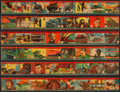 "Non-Sport Cards:Sets, 1941 R12 ""America At War"" Complete Set (48) - In Uncut Strips. ..."
