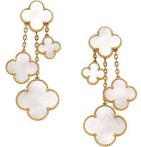 Van Cleef & Arpels Mother-of-Pearl, Gold Earrings