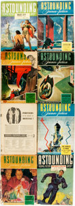 Books:Pulps, [Pulps]. Eight Issues of Astounding Science Fiction. Variousdates. Original printed wrappers. Mild edgewear. Very g... (Total:8 Items)