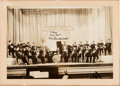 Music Memorabilia:Autographs and Signed Items, Bix Beiderbecke Signed Sepia Photograph (c. 1929)....
