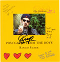 Music Memorabilia:Autographs and Signed Items, Beatles - Ringo Starr Signed Book Postcards from The Boys(Cassell Illustrated, 2005)....