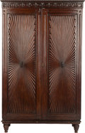 Furniture : Continental, AN ITALIAN MAHOGANY ARMOIRE, circa 1900. 78-3/4 x 47-1/4 x 17-1/2inches (200.0 x 120.0 x 44.5 cm). ...