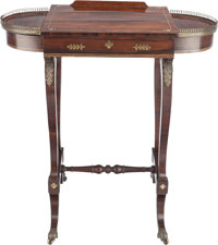 A VICTORIAN MAHOGANY AND BRASS GAMES TABLE AND LIBRARY STAND, 19th century 29-3/4 x 28-7/8 x 17 inches (75.6 x 73