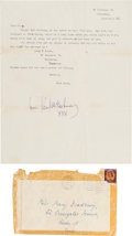 Music Memorabilia:Autographs and Signed Items, Beatles - Paul McCartney Signed Letter to an Early Fan (Liverpool,1963)....