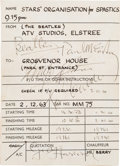 Music Memorabilia:Autographs and Signed Items, Beatles Signed Car Service Receipt Obtained by Their Limo Driver,December 2, 1963. ...
