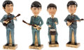Music Memorabilia:Memorabilia, Beatles Bobb'n Head Dolls Set (Car Mascots, 1964).... (Total: 4 Items)