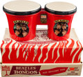 Music Memorabilia:Memorabilia, Beatles Beat Bongos, Mastro No. 360, Super-Rare, with Original Display Box. ...