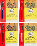 Music Memorabilia:Memorabilia, Beatles Ballpoint Pens Complete Set (Hanover Pen Co., 1964).... (Total: 4 Items)