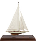 Maritime:Decorative Art, SHIP MODEL OF THE 'RAINBOW'. A fine model, fully rigged, presentedin a wood, metal and glass case.. 39 x 30-1/2 x 10-1/2 in...