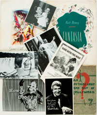 [Hollywood]. Group of Miscellaneous Hollywood-Related Memorabilia. Includes two souvenir programs, one for Gone wi