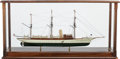 Maritime:Decorative Art, SHIP MODEL OF THE 'APHRODITE'. A fine model, in a wood and glasscase, and table.. 25-1/8 x 50-1/2 x 15-1/2 inches (63.8 x 1...