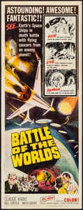 "Movie Posters:Science Fiction, Battle of the Worlds (Topaz, 1963). Insert (14"" X 36""). ScienceFiction.. ..."