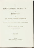 Books:Reference & Bibliography, [Encyclopedia]. The Encyclopedia Britannica: a Dictionary ofArts, Sciences, and General Literature, Vols. II-XXV. C...(Total: 24 Items)