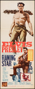 "Movie Posters:Elvis Presley, Flaming Star (20th Century Fox, 1960). Insert (14"" X 36""). ElvisPresley.. ..."