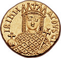 Ancients:Byzantine, Ancients: Irene, joint reign with Constantine VI (AD 780-797). AV solidus (19mm, 4.38 gm, 6h)....