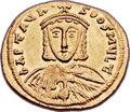 Ancients:Byzantine, Ancients: Artavasdus (AD 742-743), with Nicephorus. AV solidus (22mm, 4.46 gm, 6h). ...
