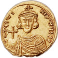 Ancients:Byzantine, Ancients: Justinian II, first reign (AD 685-695). AV solidus (21mm, 4.02 gm, 6h). ...