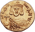 Ancients:Byzantine, Ancients: Justinian II, first reign (AD 685-695). AV solidus (21mm,4.25 gm, 6h). ...