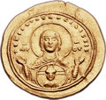Ancients:Byzantine, Ancients: Zoë and Theodora (1042). AV histamenon nomisma (27mm,4.42 gm, 6h). ...