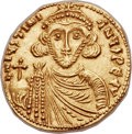 Ancients:Byzantine, Ancients: Justinian II, first reign (AD 685-695). AV solidus (22mm,3.89 gm, 6h). ...