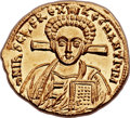 Ancients:Byzantine, Ancients: Justinian II, second reign (AD 705-711), with Tiberius.AV solidus (21mm, 4.44 gm, 6h)....