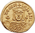 Ancients:Byzantine, Ancients: Theophilus (AD 829-842). AV solidus (22mm, 4.46 gm, 6h)....