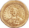 Ancients:Byzantine, Ancients: Basil II Bulgaroctonos (AD 976-1025). AV histamenonnomisma (26mm, 4.41 gm, 6h). ...