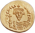 Ancients:Byzantine, Ancients: Revolt of the Heraclii (AD 608-610). AV solidus (22mm, 4.48 gm, 7h)....