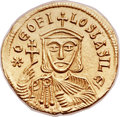 Ancients:Byzantine, Ancients: Theophilus (AD 829-842). AV solidus (22mm, 4.47 gm,6h)....