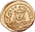 Ancients:Byzantine, Ancients: Leo V, the Armenian (AD 813-820). AV solidus (23mm, 4.45 gm, 6h). ...