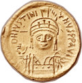 Ancients:Byzantine, Ancients: Justinian I the Great (AD 527-565). AV solidus (21mm,4.36 gm, 6h)....