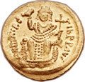 Ancients:Byzantine, Ancients: Maurice Tiberius (AD 582-602). AV solidus (21mm, 4.51 gm,6h). ...