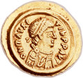 Ancients:Byzantine, Ancients: Maurice Tiberius (AD 582-602). AV tremissis (17mm, 1.48gm, 6h)....