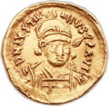 Ancients:Byzantine, Ancients: Justinian I the Great (AD 527-565). AV solidus (21mm, 4.36 gm, 6h). ...
