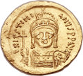 Ancients:Byzantine, Ancients: Justinian I the Great (AD 527-565). AV solidus (21mm,4.34 gm, 6h)....