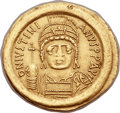 Ancients:Byzantine, Ancients: Justinian I the Great (AD 527-565). AV solidus (22mm,4.41 gm, 6h)....