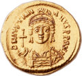 Ancients:Byzantine, Ancients: Justinian I the Great (AD 527-565). AV solidus (22mm, 4.47 gm, 6h). ...