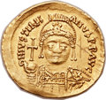 Ancients:Byzantine, Ancients: Justinian I the Great (AD 527-565). AV solidus (21mm,4.34 gm, 7h). ...