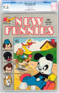 Golden Age (1938-1955):Funny Animal, New Funnies #94 (Dell, 1944) CGC NM+ 9.6 Off-white pages....