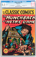 Golden Age (1938-1955):Classics Illustrated, Classic Comics #18 The Hunchback of Notre Dame - Original Edition (Gilberton, 1944) CGC VF+ 8.5 White pages....