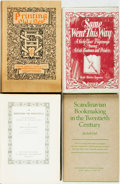 Books:Books about Books, [Books about Books]. Group of Four Books about Books. Various publishers and dates. Original cloth bindings. Two dust jacket... (Total: 4 Items)
