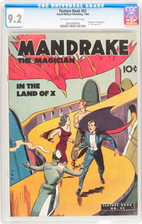 Feature Book #52 Mandrake the Magician (David McKay Publications, 1948) CGC NM- 9.2 Off-white to white pages